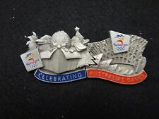 "2x Pewter ""Celebrating Australia's Games"" Puzzle Pin Set Sydney Olympic Games"