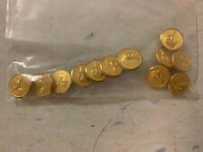 LL Bean Vintage Duck Buttons Blazer Jacket Replacement Set Gold Brass