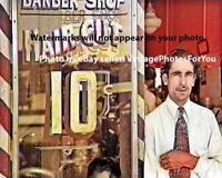 Nice Unique Vintage 1939 Depression Era Barber Shop Barber Pole Hair Cuts Photo