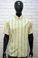 LACOSTE Uomo Camicia Manica Corta Camicetta Taglia XL Maglia Shirt Man Hemd
