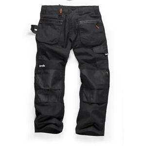 Scruffs RIPSTOP Multi-Pocket Work Trousers Black (Various Sizes) Men's Workwear