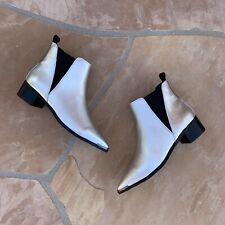 NWOT $180 Tony Bianco Silver Metallic Jazz Pointed Toe Ankle Boots Sz 7.5