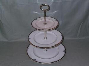 Royal Doulton Princeton 3-Tier China Hostess Cake Plate Stand H5098