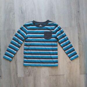 Okie Dokie Long Sleeve Shirt Striped With Pocket Boys Size 5T