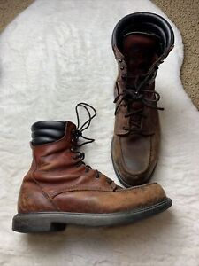 Vintage Red Wing Moc Toe Boots 2524 402 Size 9D Red Brown