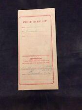 1921 Pedigree Certificate for a Persian Cat