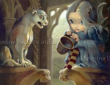 Alannah & Gargoyle fantasy gothic fairy art Jasmine Becket-Griffith CANVAS PRINT