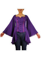 Plus Size Purple Gothic Vampire Bat Wing Flared Bustier Corset Top 1X 2X 3X 4X