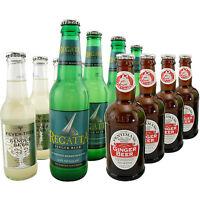 Premium Ginger Beer Soda Pop Sample Pack - Set of 12- Cocktail Drink Bar Mixer