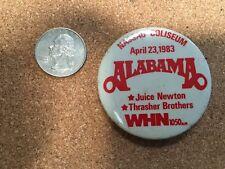 Alabama Concert concert pin back button With Juice Newton 1983 Nassau Ny
