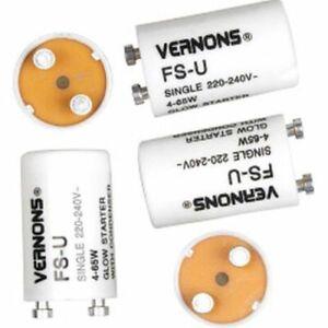 2 x Fluorescent Starter 4W to 65W 220-240V Tube Start FS-U FSU