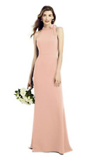 DESSY BOW NECK OPEN BACK BRIDESMAID DRESS SIZE 14 BNWT