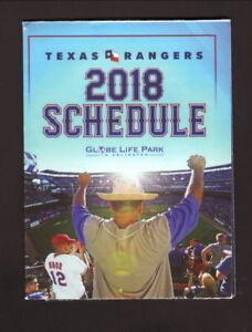 Texas Rangers--2018 Pocket Schedule--Dr Pepper