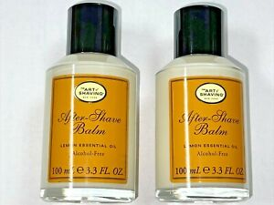 Art Of Shaving After Shave Balm 3.3oz/100ml Lemon Essential Oil New LOT 2 pc Man