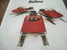 New listing 1973 Vintage SABRE Snowmobile Brochure