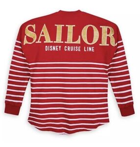 NWT Disney Cruise Line Minnie SAILOR Spirit Jersey XXL 2XL Red White Nautical