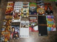 Lot of 22 Portable Sony Playstation (PSP) Instruction Books / Manuals ONLY