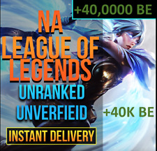 ✅ [NA] League Of Legends Account LOL NA Smurf + 40,000 BE IP Unranked Level 30 A