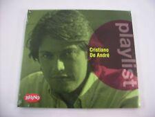 CRISTIANO DE ANDRE' - PLAYLIST - CD SIGILLATO 2016 - 15 TRACKS
