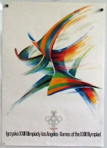 1984 SUMMER OLYMPICS Polish Poster Art by Karol Sliwka XXIII Olympiad