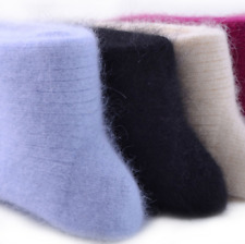 US 3 Pairs Womens 90%Wool Cashmere Casual Solid Warm Thicken Soft Winter Socks