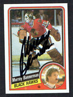 Murray Bannerman #27 signed autograph auto 1984-85 Topps Hockey Trading Card