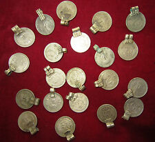 50 pc LOT VINTAGE Banjara KUCHI TRIBAL COINS INDIA Bellydance Wholesale Lot 25p