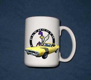 New 15 Oz. 1972 Plymouth Roadrunner mug