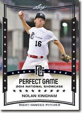 12) NOLAN KINGHAM Atlanta Braves 2014 Leaf *PERFECT GAME* Baseball Rookie RC LOT