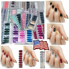 Real Nail Polish Strips 100% Manicure Pedicure Solid Glitters