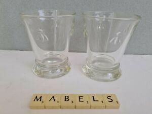 LA ROCHERE ~BEE~ tumblers glasses x 2