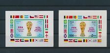 LM82494 Iraq 1990 imperf football cup soccer sheets MNH