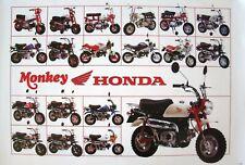 HONDA MONKEY MINI BIKE POSTER:19 Models and Honda Logo, Motorcycle, Scooter, Z50