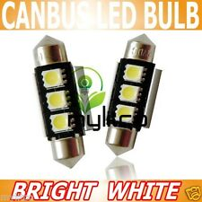 2x Bright Rear Reg NUMBER PLATE LIGHT Canbus LED Festoon C5W Xenon Upgrade Bulbs