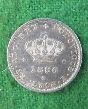 1646 # Portugal - 50 Reis Rey Luis I 1886 Plata Km # 506 Alta Calidad rdl3009