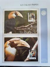 WWF Maximaphilie Lot 4 cartes-maximum CALAO PAPOU Papua New Guinea Papouasie