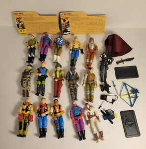 Vintage G I Joe 3 Inch Action Figure Lot of 15 w/ 2 Cards and Misc. Weapons