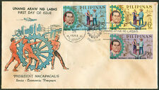 1963 Philippines PRESIDENT MACAPAGAL'S SOCIO-ECONOMIC PROGRAM First Day Cover A