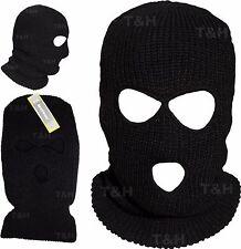 BALACLAVA Knitted Ski Mask/Hat Neck Warmer SAS Style ARMY 3 Hole Full Face Bali