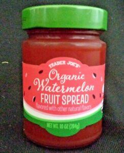 NEW Trader Joe's Organic Watermelon Fruit Spread 10 oz Jam Preserves Jelly Jar