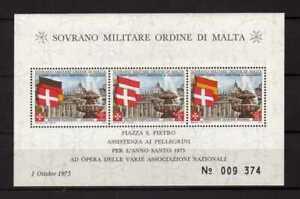 13047) SMOM 1975 C.U.# BF8 MNH** Christmas - Flags Spain S/S