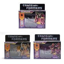 Transformers G1 Decepticon Headmaster Mindwipe+Skullcruncher+Weirdwolf Reissue