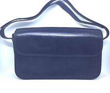 Vintage Comtesse Navy Leather Handbag Shoulder Crossbody German Adjustable Strap