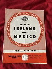 More details for 1966 northern ireland v mexico international pre world cup friendly programme