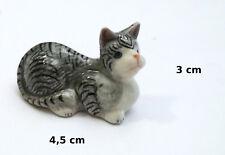 chat miniature en porcelaine,collection,décoration,animal, cat,poes  S3-4