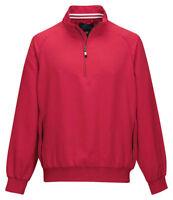 Tri-Mountain Men's Polyester Quarter Zip Long Sleeve Winter Windshirt. J2660