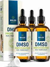 DMSO Dimethylsulfoxid 99,9% Reinheit ph. Eur. pharmazeutische Qualität 3x 100ml