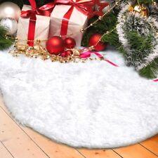 Tappeto Gonna 122 cm in Finta Pelliccia Bianca x Coprire Piede Albero di Natale