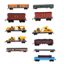 1:87 Diecast Vehicle Train Carriage Model Freight Railroad Cars Compartment