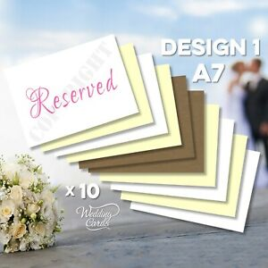 10 x Reserved Sign Seating Name Place Card Wedding Birthday Party Christening